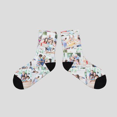 Socken mit Fotocollage