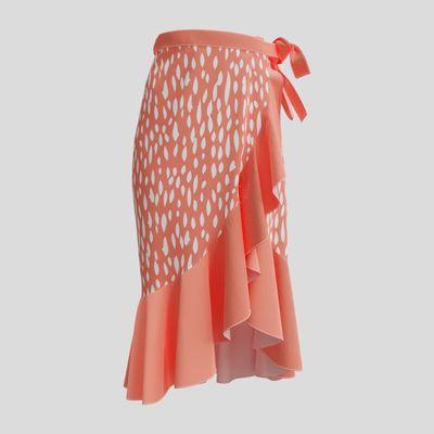ロング丈ラップスカート