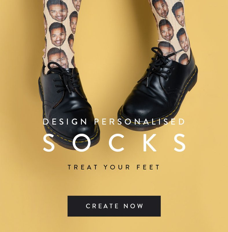 Personalised Photo Socks