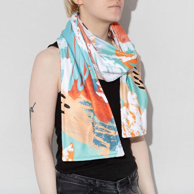 personalised fleece scarves