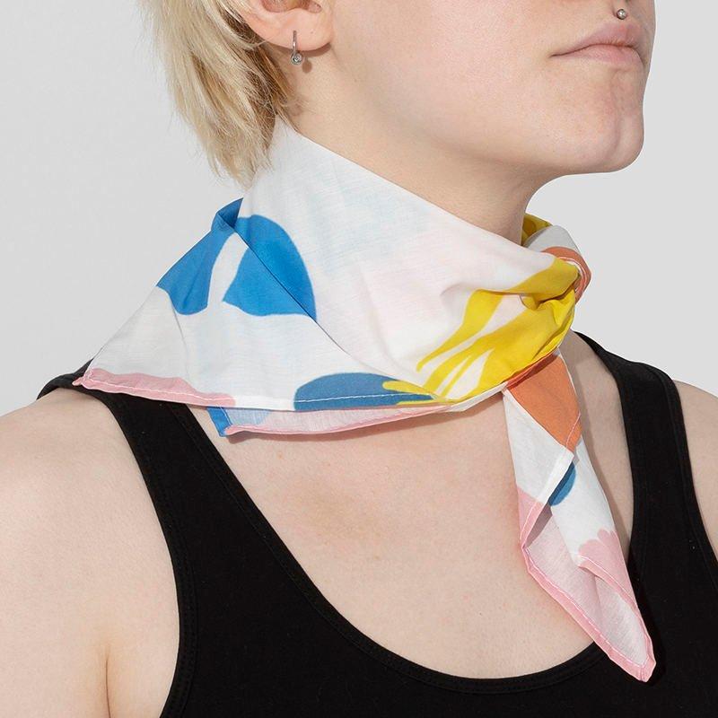 foulard coton imprimé