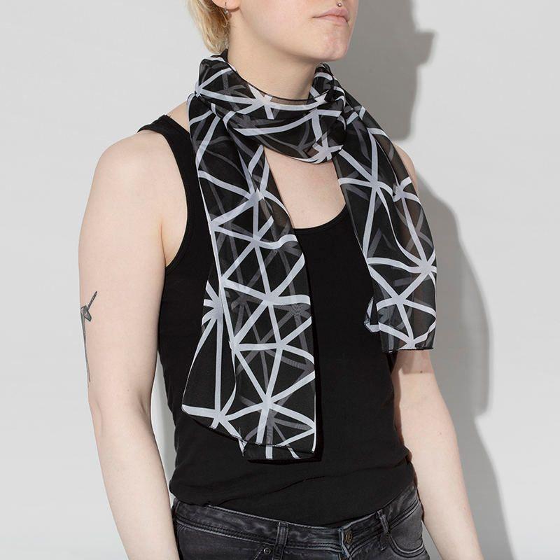 Foulard personnalisé avec design géométrique