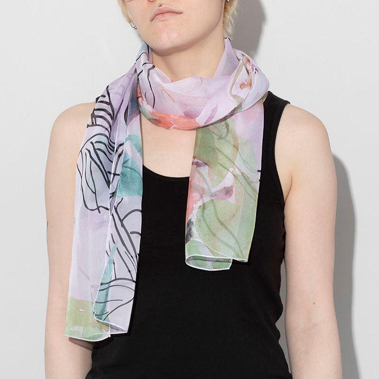 custom chiffon scarf