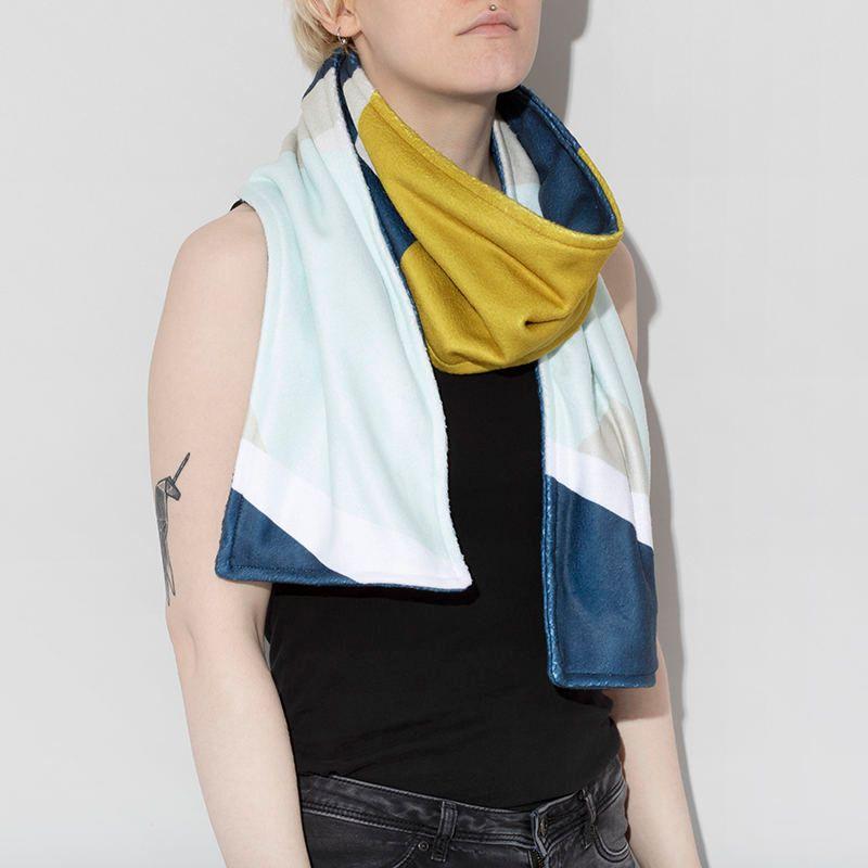 bufanda personalizada diseño online una o dos capas