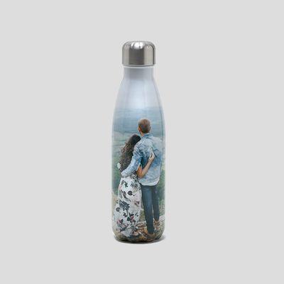 Botella acero reutilizable personalizada foto san valentin