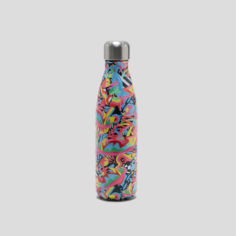 Bouteille isotherme avec design en couleur