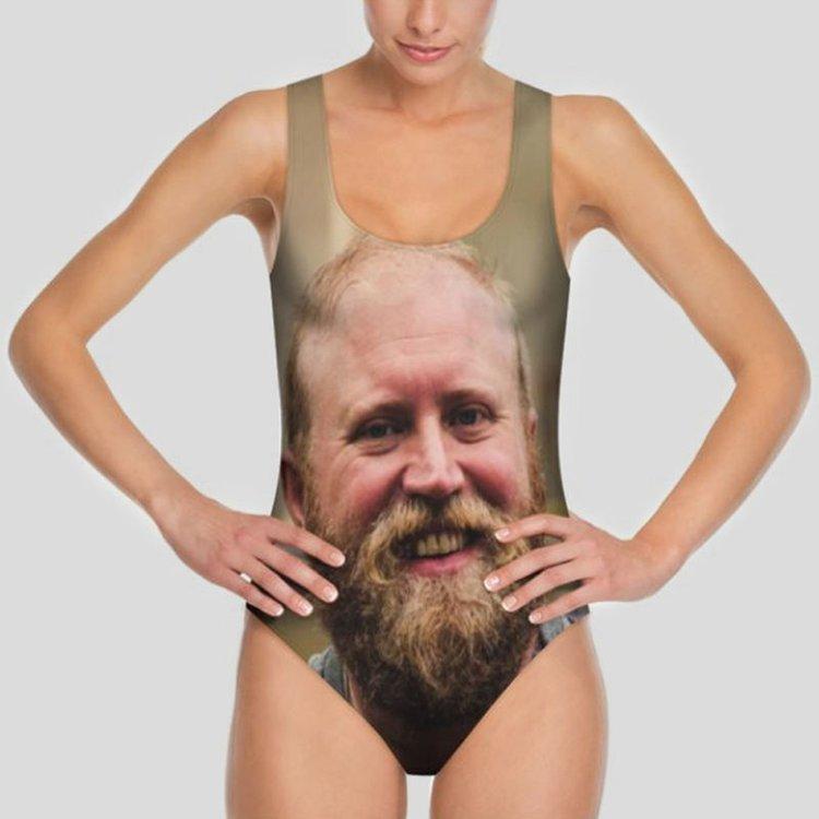 face photo swimsuit