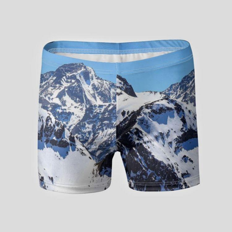 landscape personalized swim trunks