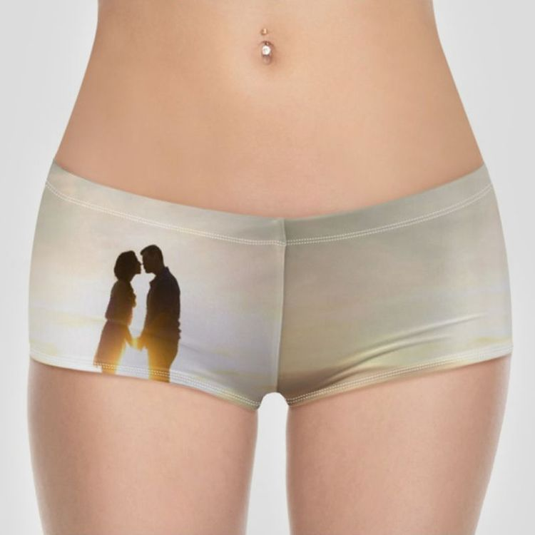custom printed bikini bottoms