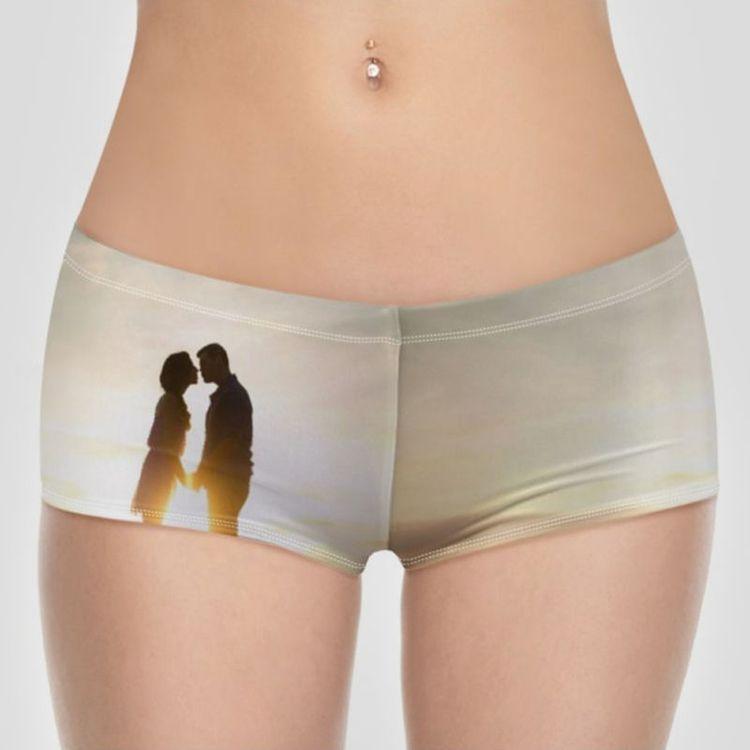 personalised womens bikini shorts