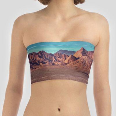 custom printed bikini top