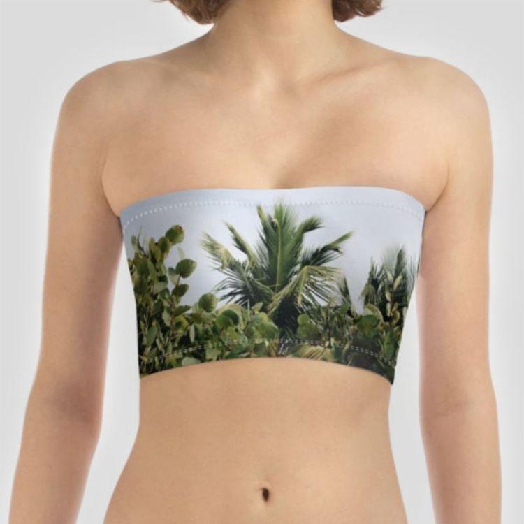 trägerloses bikinioberteil bedrucken