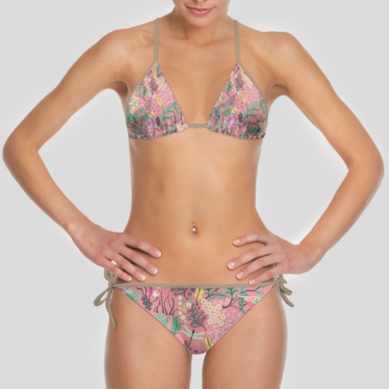 Swimwear Gorgous Multi-coloured Detailed Cherie Halterneck Bikini Top Size 12 Clothing, Shoes & Accessories