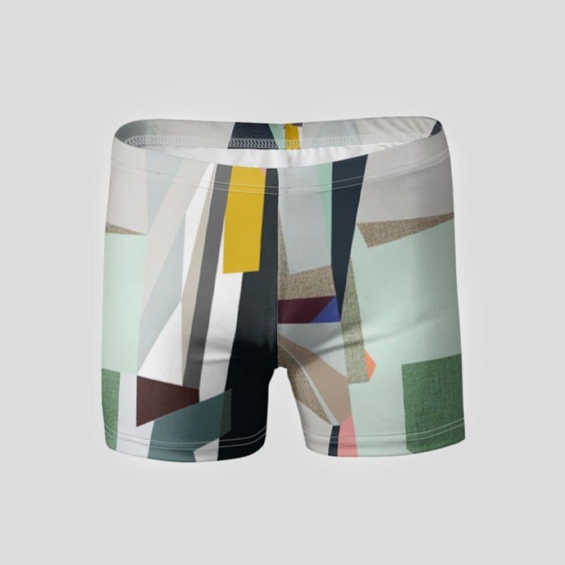 custom printed swim trunks