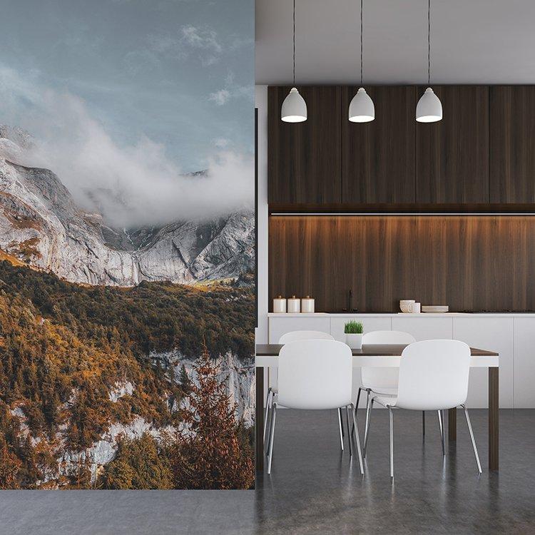 custom kitchen wallpaper