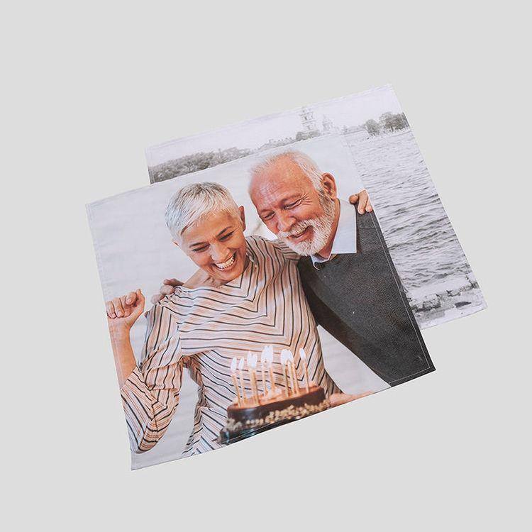 Serviettes de table personnalisées avec photo de couple