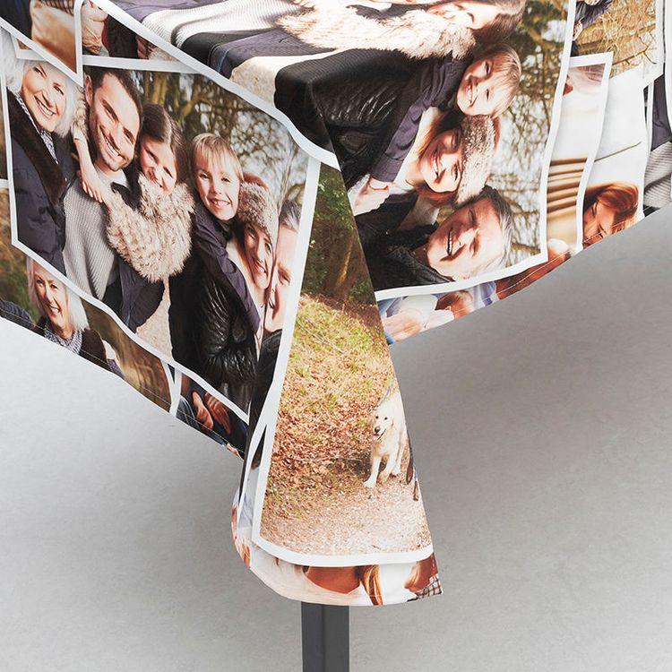gepersonaliseerd tafelkleed met fotocollage