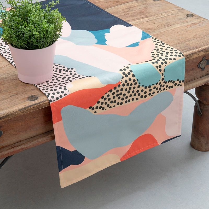 printed table runner