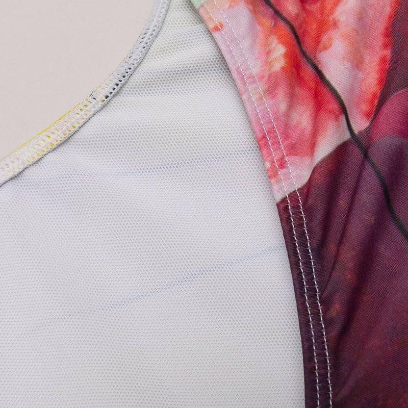 custom printed swimsuit detail