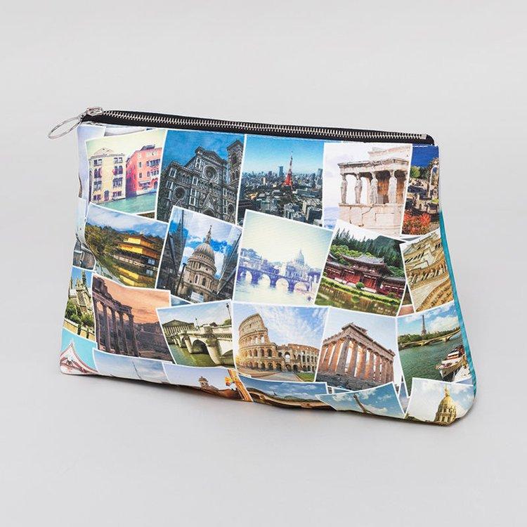 Travel Montage photos clutch purse