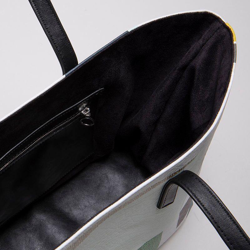 skräddarsydd toteväska av läder