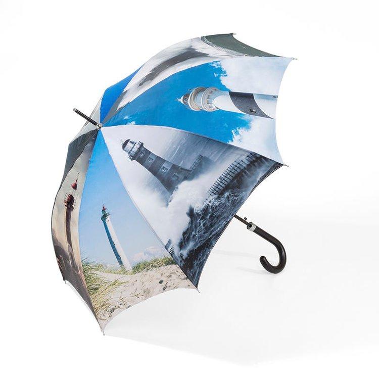 gepersonaliseerde paraplu's vuurtoren print