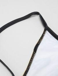 face bikini strap