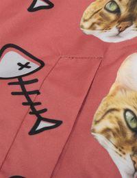 Cat Face Bomber Jacket