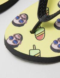 flip flops mit gesicht bedrucken