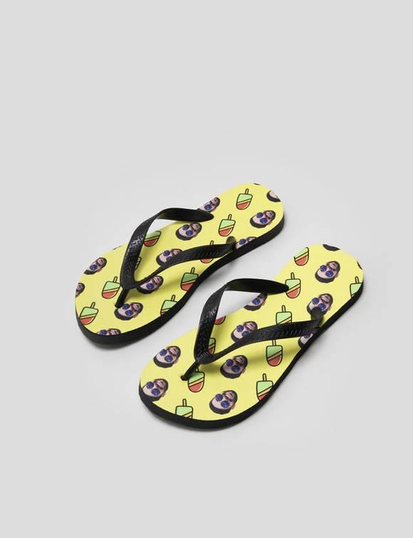 face flip flops