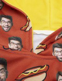 custom mans face hoodie