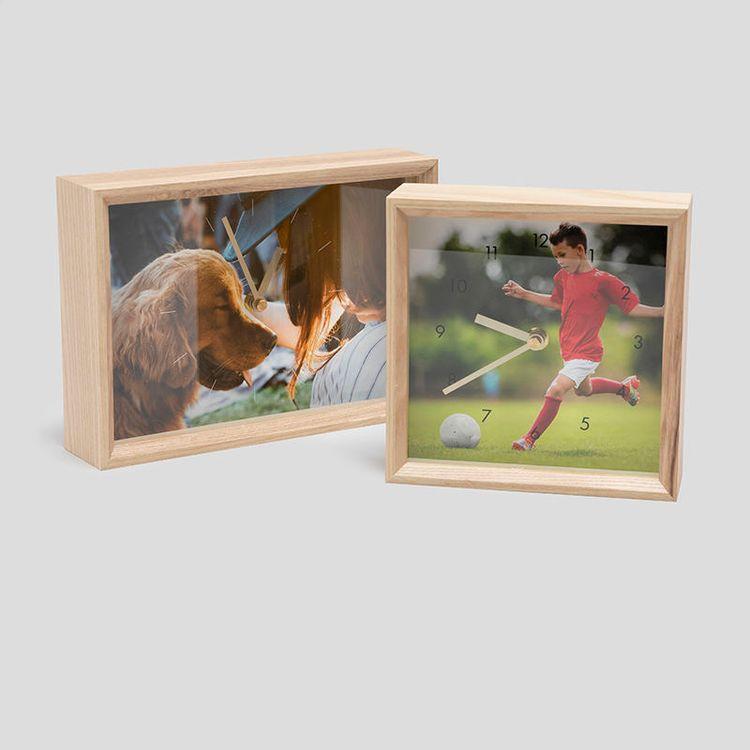 Horloge photo carrée ou rectangulaire