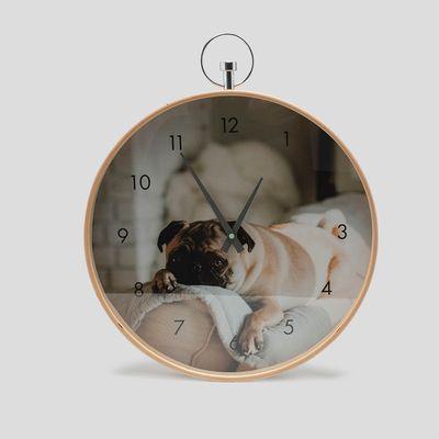 Foto-reloj de pared personalizado
