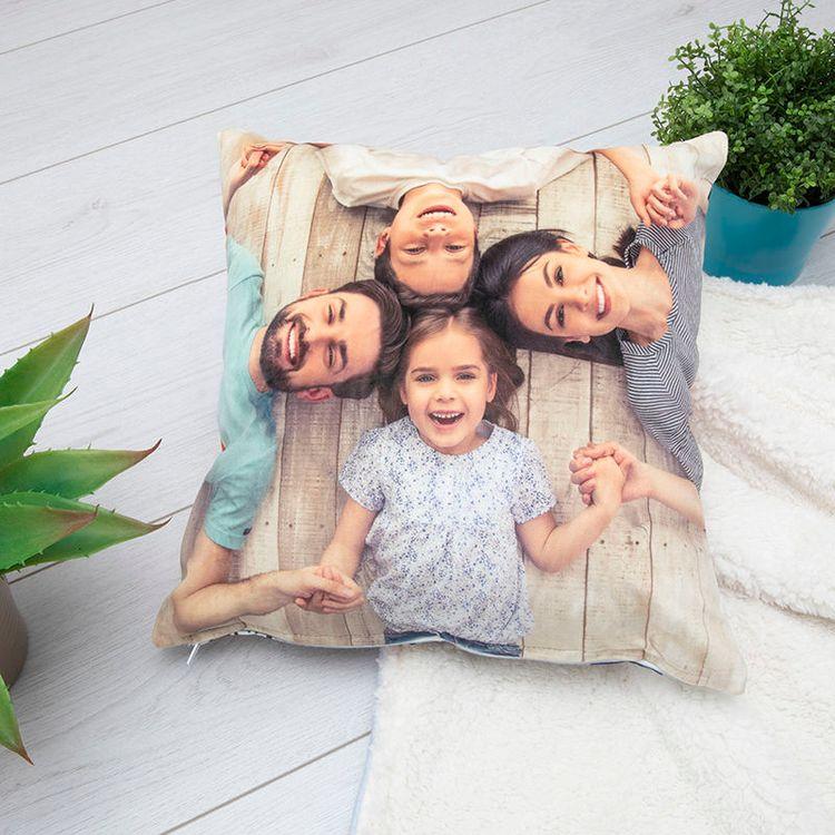 Coussin photo de famille