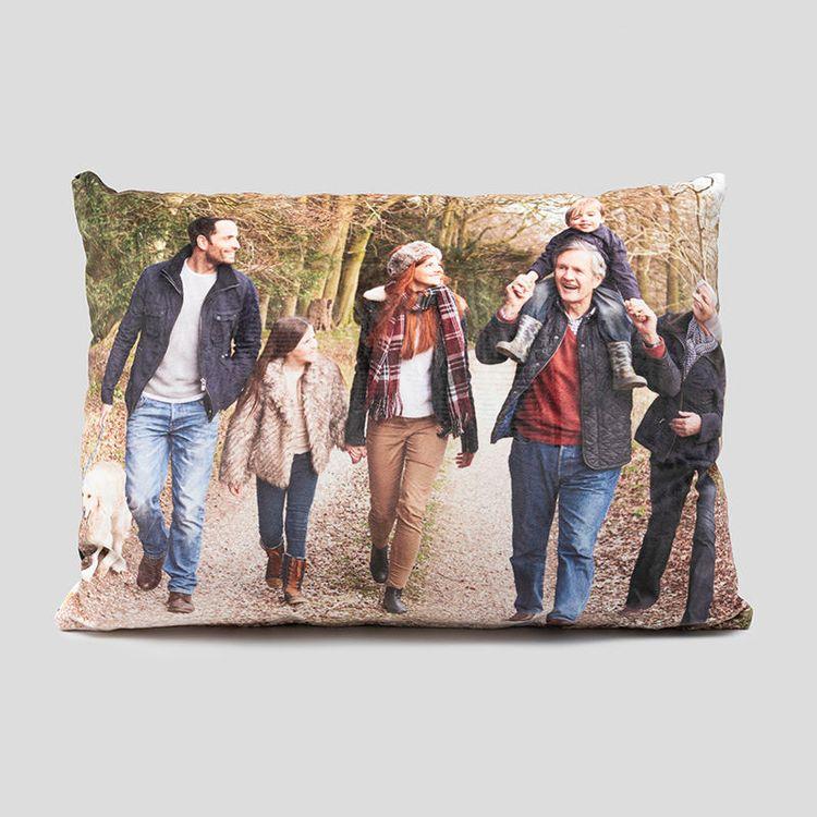 coussin imprimé avec photo de famille