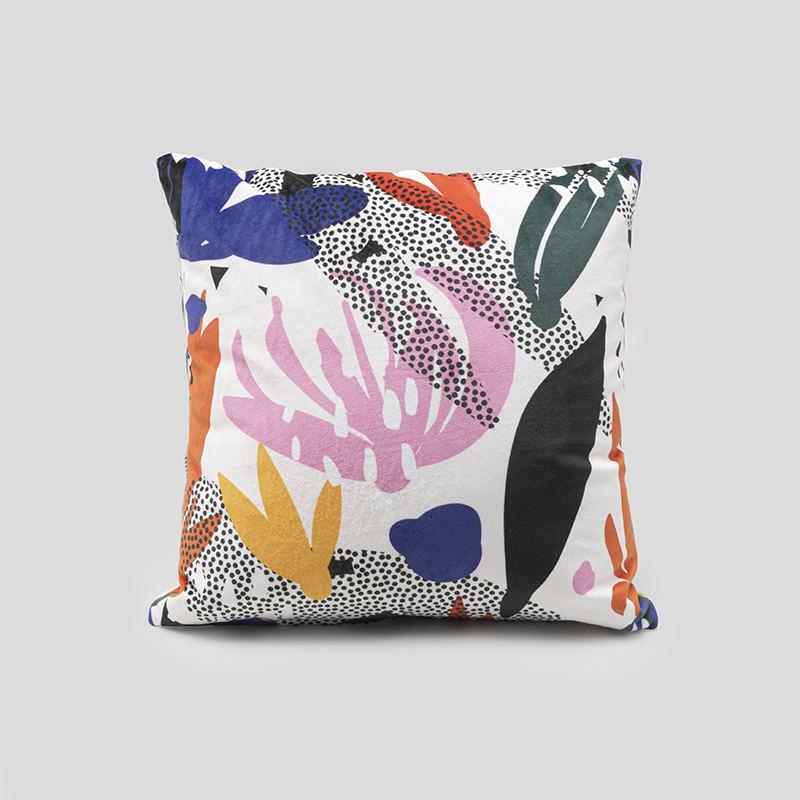 Personalised Modern Geometric Cushion Dusty Pink Marble Grey Designer Scandi