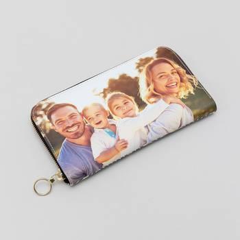 Leder Portemonnaie mit Reißverschluss