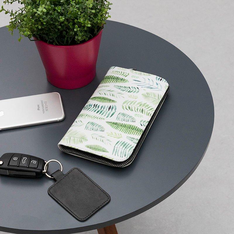 custom leather long wallet