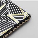 leather clutch purse customized zipper