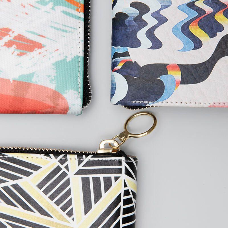 custom made leather purse fabric choices