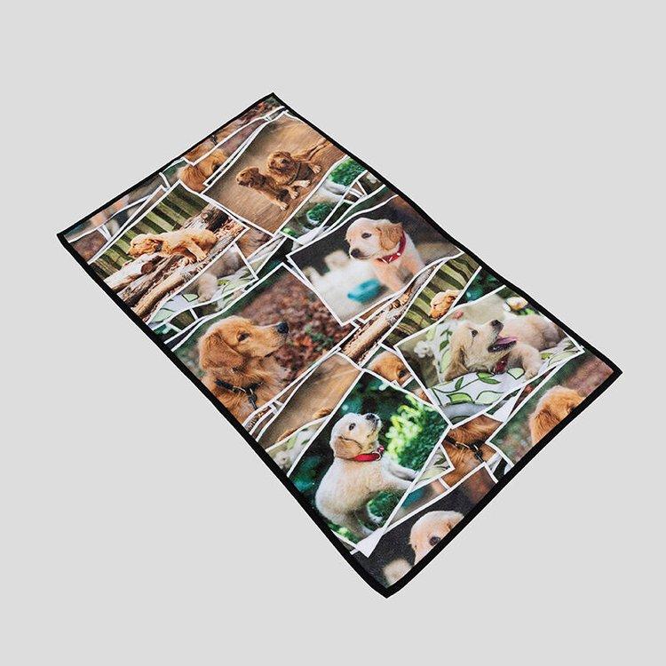 hundehandtuch mit eigenem foto bedrucken lassen