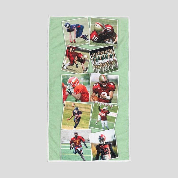 gepersonaliseerde sporthanddoek bedrukt met jouw ontwerpen