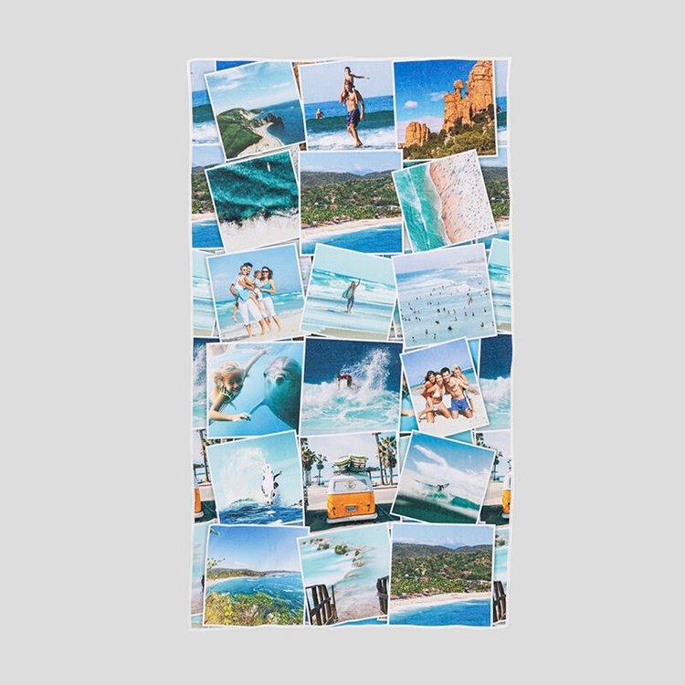 Strandtuch mit Fotocollage