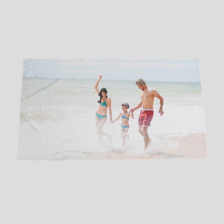 Serviette de plage personnalisée avec photo