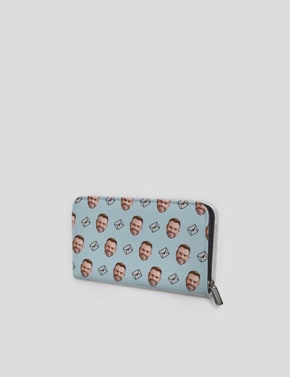 face zip purse