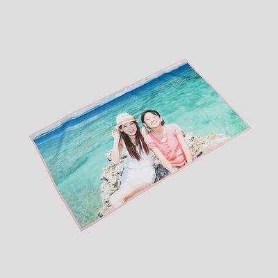 Serviette de plage personnalisée avec photos