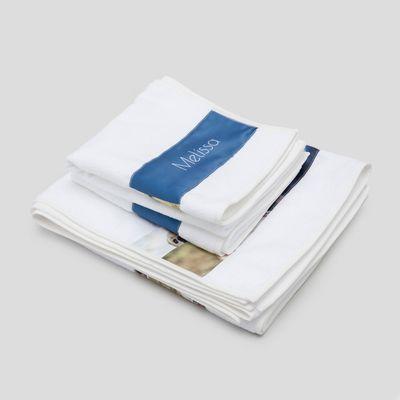 Handdukar med remsa för tryck