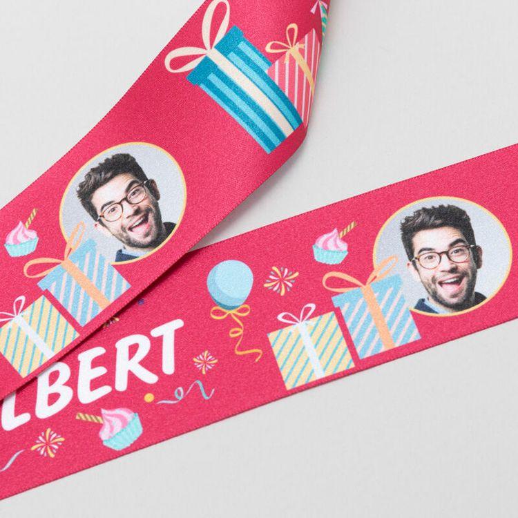 printed ribbon  with name