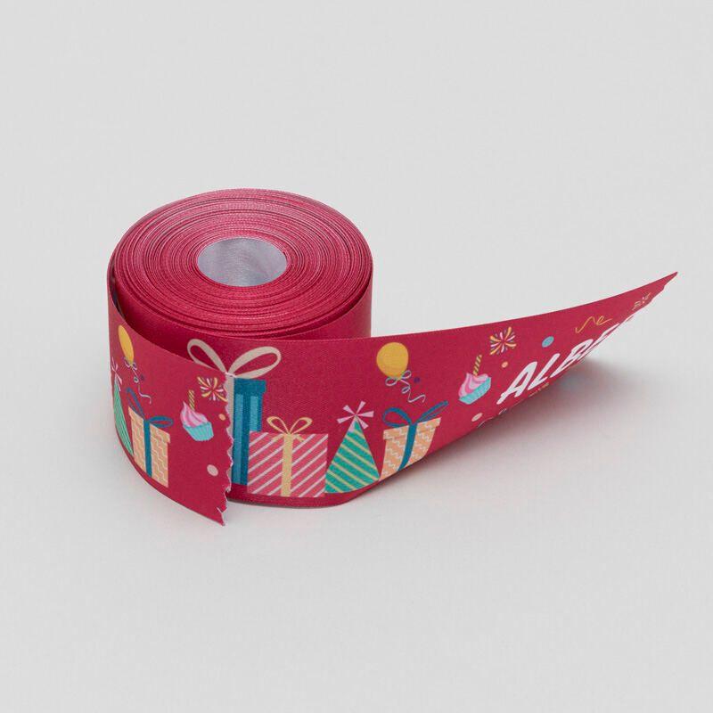 Birthdays 10mm Satin Ribbon Customised Ribbon Anniversary Gift Wrapping Weddings Corporate Branding Ribbon Personalised Satin Ribbon
