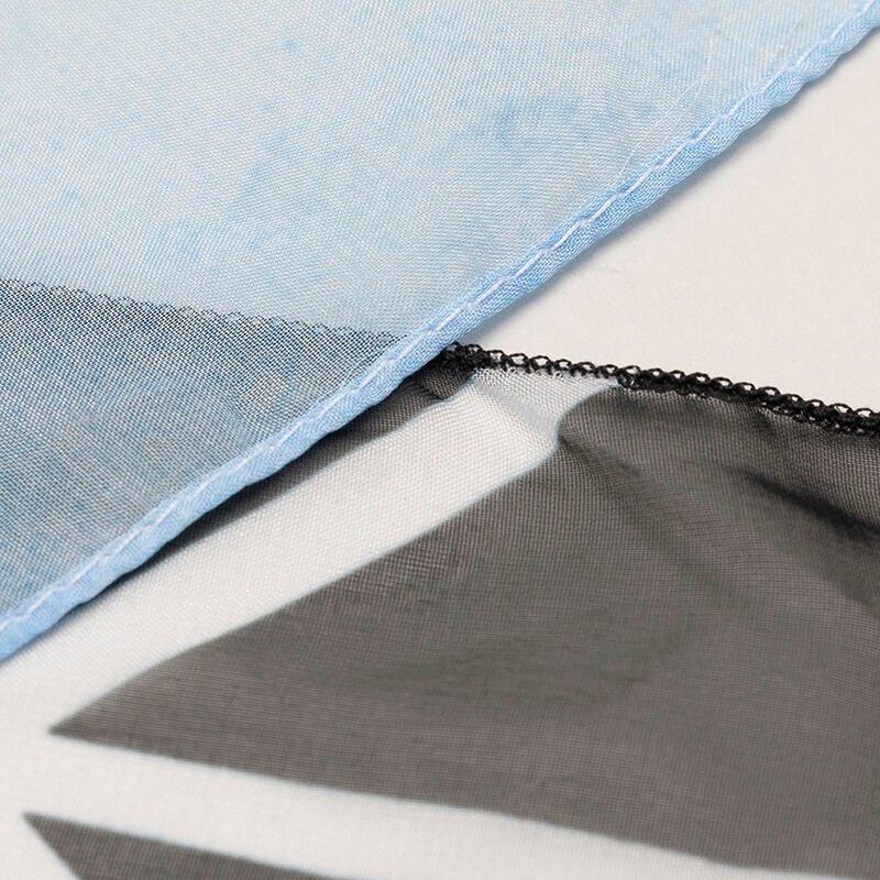 opzione di orlo del foulard personalizzato